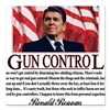 ronald reagan guncontrol.png Square Car Magnet 3""