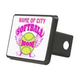 Softball mom Rectangular Hitch Cover