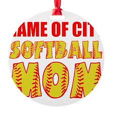 Softball mom Ornament