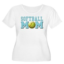 softball mom(white).png T-Shirt