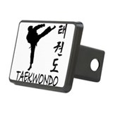 old tae kwon do(pink).png Rectangular Hitch Cover