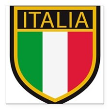"italy T-Shirt.png Square Car Magnet 3"" x 3"""