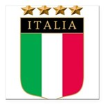 Italian 4 star FLAG(white).png Square Car Magnet 3