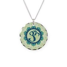 Lotus Aum Green Necklace