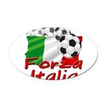 forza italia.png Oval Car Magnet