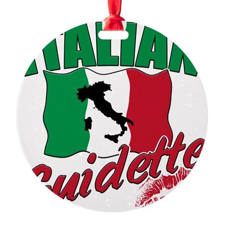 italy T-Shirt.png Round Ornament