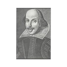 Wacky Shakespeare Rectangle Magnet