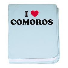 I Love Comoros baby blanket