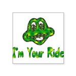 ride_frog01.png Square Sticker 3