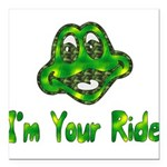 ride_frog01.png Square Car Magnet 3