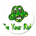 ride_frog01.png Round Car Magnet
