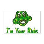 ride_frog01.png Rectangle Car Magnet