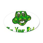 ride_frog01.png Oval Car Magnet