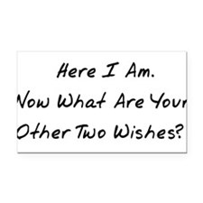 wishes01x.png Rectangle Car Magnet