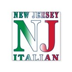 NJITALIAN.png Square Sticker 3