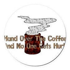 humor_coffee01.png Round Car Magnet