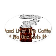 humor_coffee01.png Oval Car Magnet
