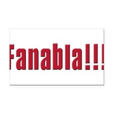 fanabla(white).png Rectangle Car Magnet