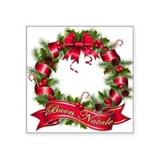 "buon natale bb.png Square Sticker 3"" x 3"""
