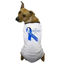 My Friend is a Survivor (blue) Dog T-Shirt