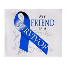 My Friend is a Survivor (blue) Throw Blanket