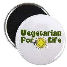 "Vegetarian For Life 2.25"" Magnet (100 pack)"