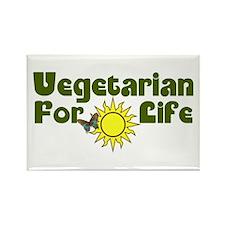 Vegetarian For Life Rectangle Magnet (100 pack)