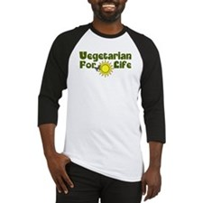 Vegetarian For Life Baseball Jersey