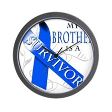 My Brother is a Survivor (blue) Wall Clock