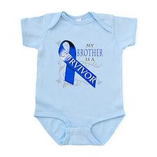 My Brother is a Survivor (blue) Infant Bodysuit