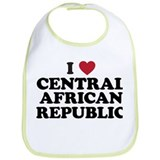 I Love Central African Republic Bib