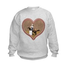 Barrel Racing Heart Sweatshirt
