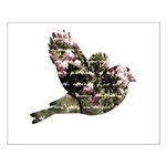 Inspired Pink Roses Bird Small Poster