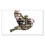 Inspired Pink Roses Bird Sticker (Rectangle 10 pk)