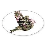 Inspired Pink Roses Bird Sticker (Oval 50 pk)