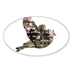 Inspired Pink Roses Bird Sticker (Oval 10 pk)