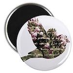Inspired Pink Roses Bird Magnet