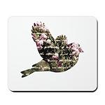 Inspired Pink Roses Bird Mousepad