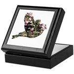 Inspired Pink Roses Bird Keepsake Box
