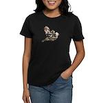 Inspired Pink Roses Bird Women's Dark T-Shirt