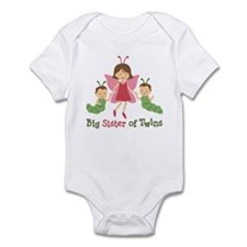 Big Sister of Twins - Butterfly Infant Bodysuit