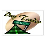 Day Trader Rectangle Sticker