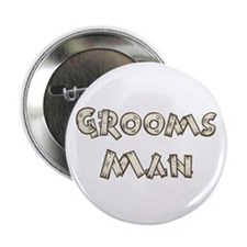 "Country Wedding Groomsman 2.25"" Button"
