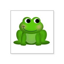 "Cute Froggy Square Sticker 3"" x 3"""