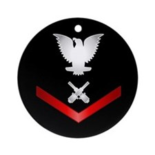 Navy PO3 Gunner's Mate Ornament (Round)
