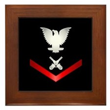 Navy PO3 Gunner's Mate Framed Tile