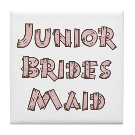 Country Junior Bridesmaid Tile Coaster