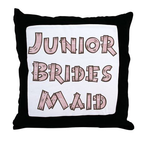 Country Junior Bridesmaid Throw Pillow