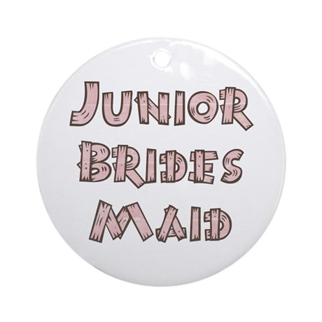 Country Junior Bridesmaid Ornament (Round)