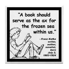 Kafka Book Quote 2 Tile Coaster